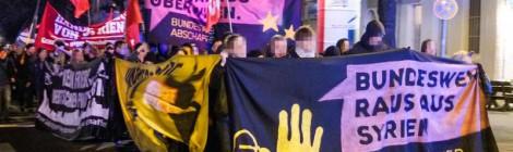 """Bericht von Demo """"Bundeswehr raus aus Syrien"""""""